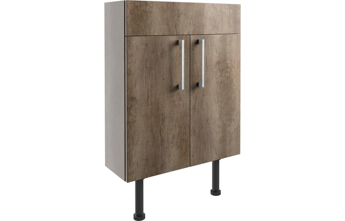 Alba 600mm Slim Vanity Unit - Grey Nebraska Oak