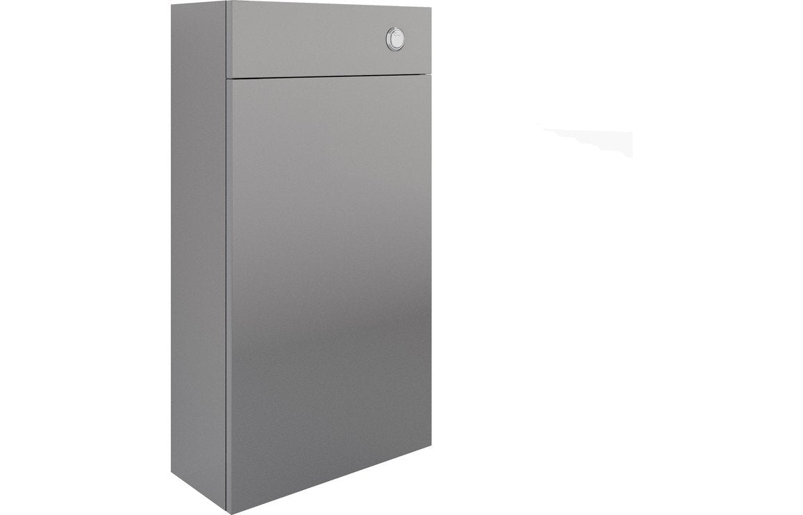 Valesso 500mm Slim WC Unit - Onyx Grey Gloss