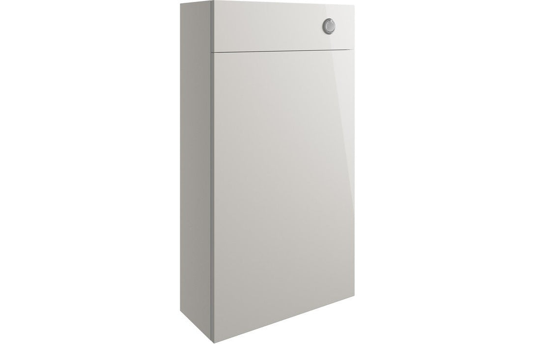 Valesso 500mm Slim WC Unit - Pearl Grey Gloss