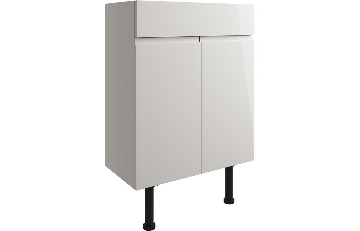 Valesso 600mm Vanity Unit - Pearl Grey Gloss