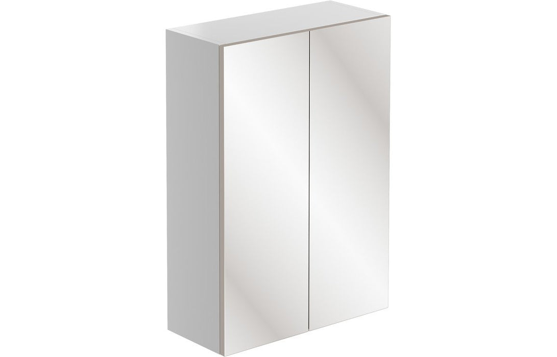 Valesso 500mm Mirrored Unit - White Gloss