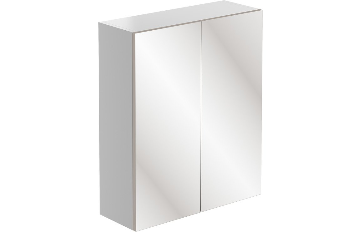 Valesso 600mm Mirrored Unit - White Gloss