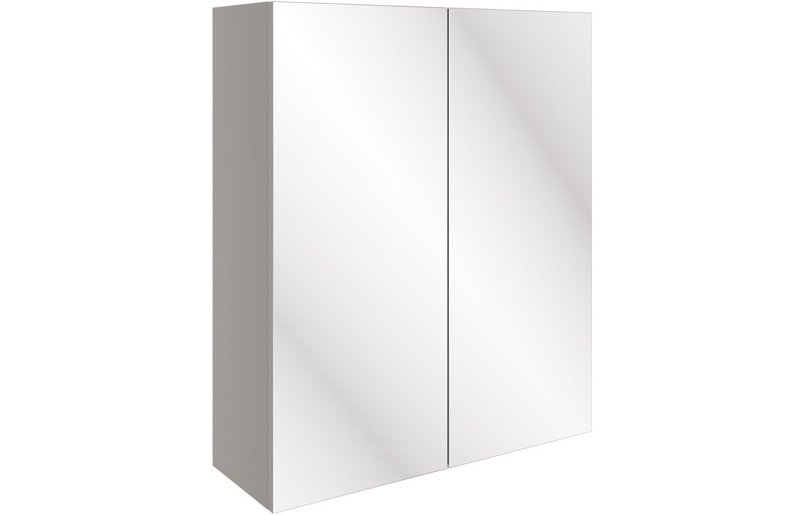 Valesso 600mm Mirrored Unit - Pearl Grey Gloss