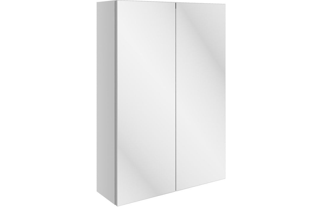 Valesso 500mm Slim Mirrored Wall Unit - White Gloss