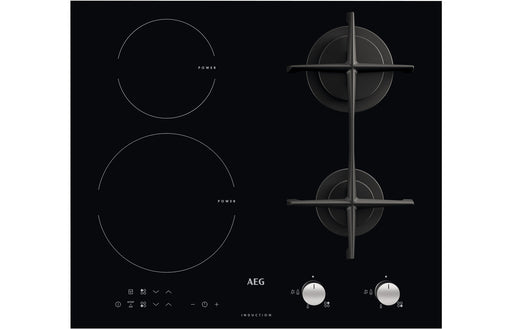 AEG HD634170NB 60cm Gas & Induction Hob - Black