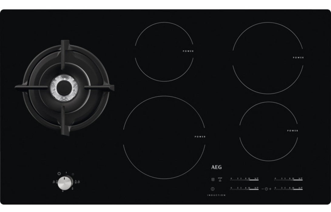 AEG HD955100NB 90cm Gas & Induction Hob - Black