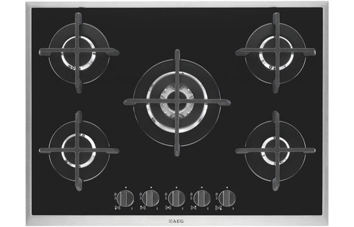 AEG HG795450XB 70cm Gas Hob - Black Glass