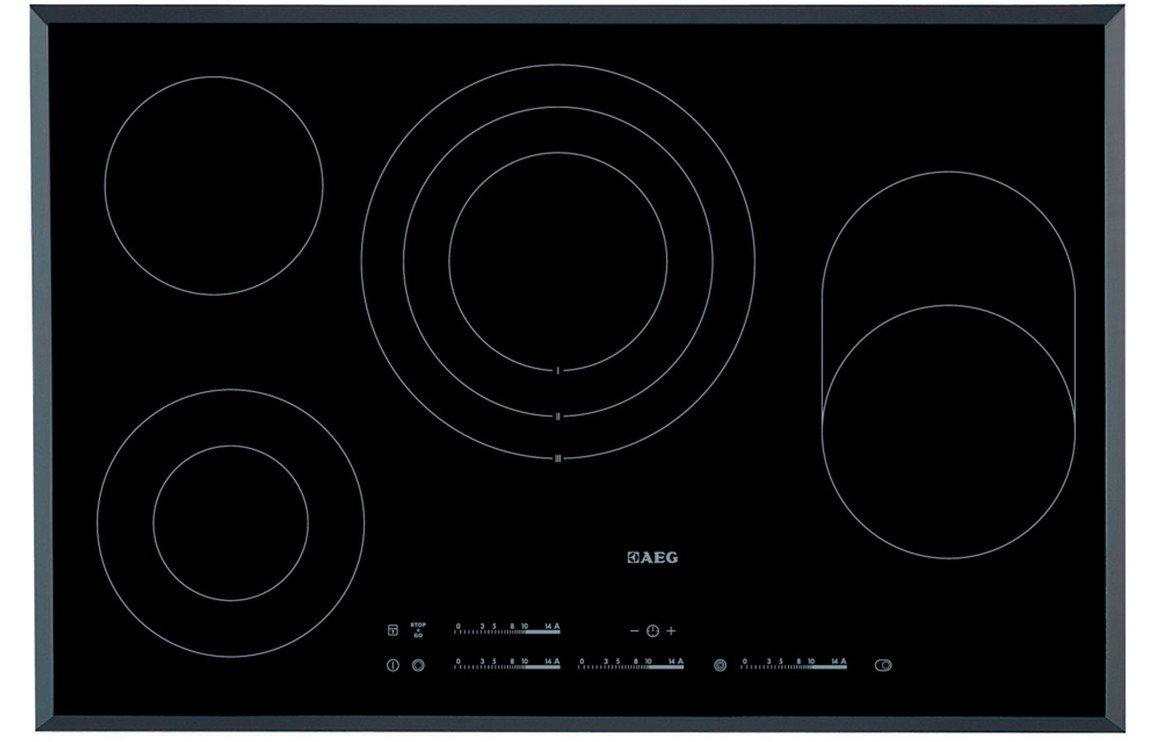 AEG HK854080FB 80cm Ceramic Hob - Black
