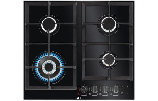 AEG HKB64540NB 60cm Gas On Glass Hob - Black