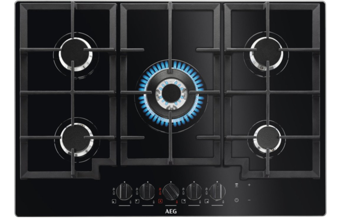 AEG HKB75540NB 75cm Gas On Glass Hob - Black
