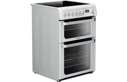 Hotpoint HUE61PS Free Standing Double Electric Oven - White