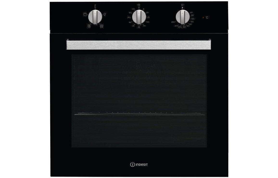 Indesit Aria IFW 6330 BL UK B/I Single Electric Oven - Black
