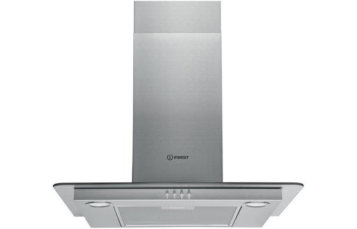 Indesit IHF6.5LMX 60cm Flat Glass Chimney Hood - St/Steel