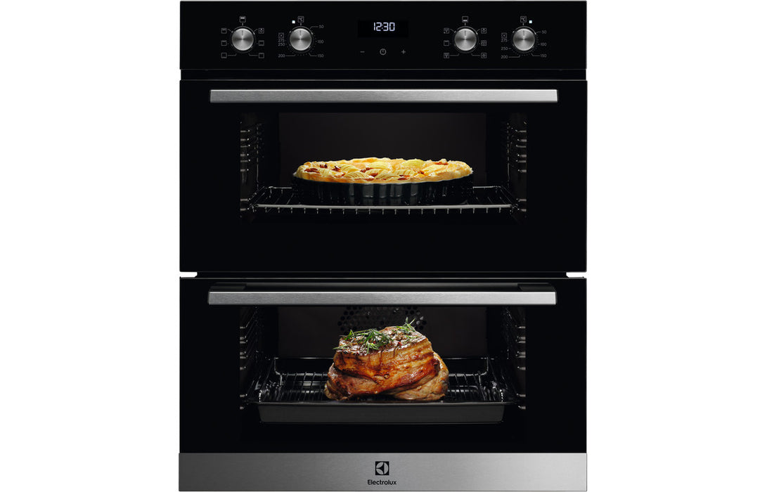 Electrolux KDFEC40UX B/U Double Electric Oven - Black & St/Steel