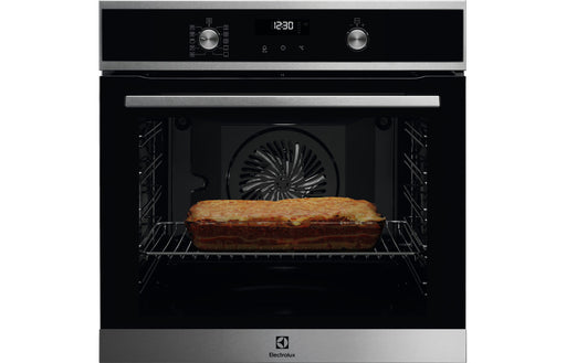 Electrolux KOFDP40X B/I Single Pyrolytic Oven - Black & St/Steel