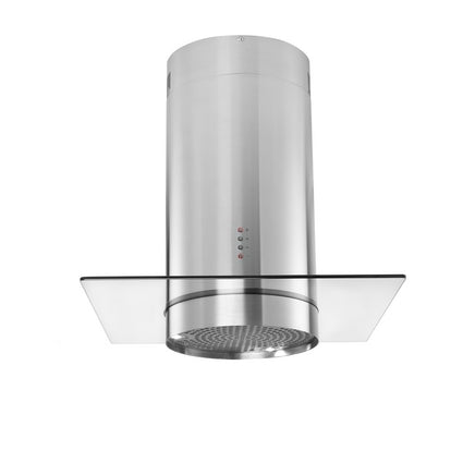 LAM2605 A Lamona Stainless Steel cylinder island extractor with glass 70cm