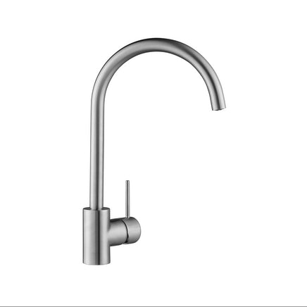 TAP3410 Lamona Brushed Steel Effect Alvo Swan Neck Single Lever Tap