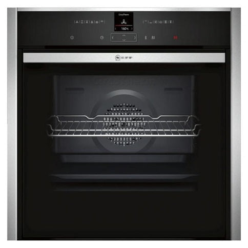 NEFF Touch Control Slide&Hide® Single Pyrolytic Multi-Function Oven - Stainless Steel and Black