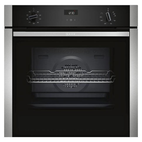 Neff Single Fan Oven - Stainless Steel and Black