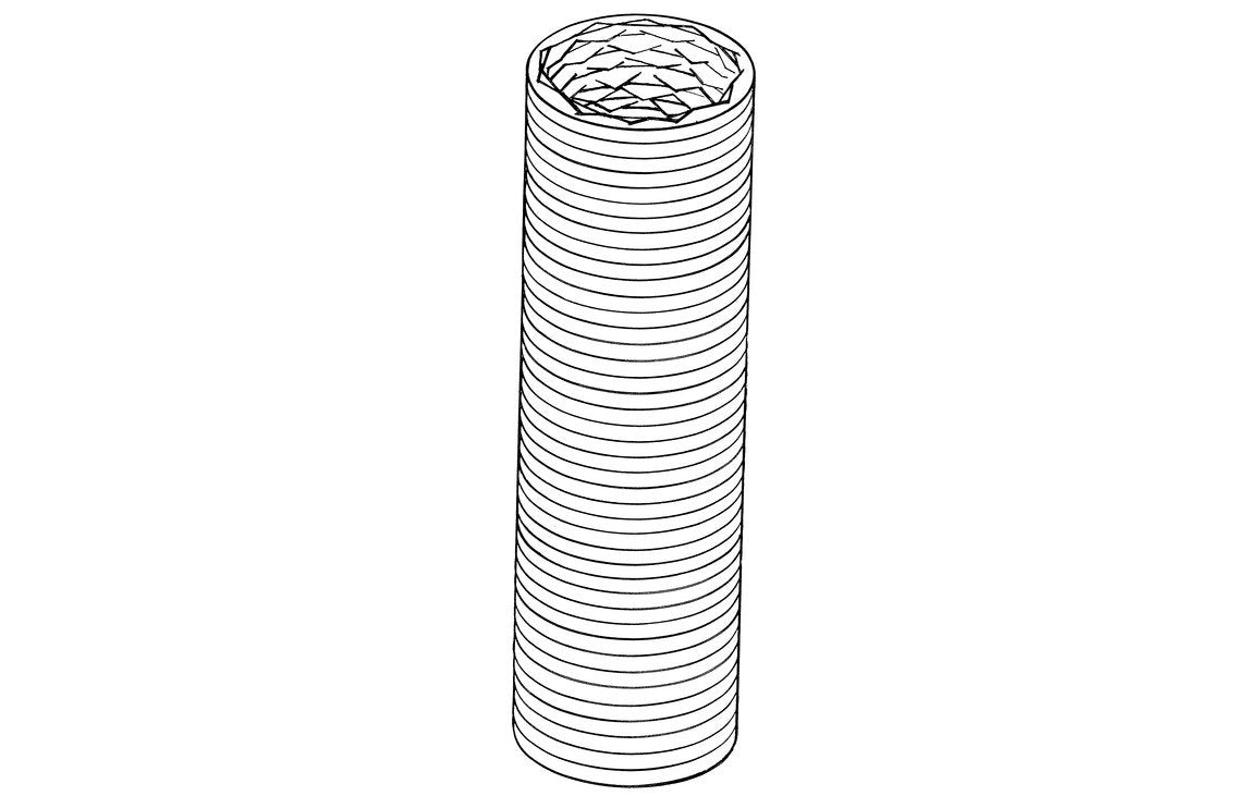 Verplas P0092/127/35 125mm x 3m Round Flexible Hose