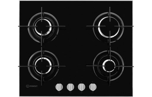 Indesit PR642/IBK 60cm Gas On Glass Hob - Black