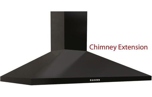 Prima Chimney Hood Extension - Black