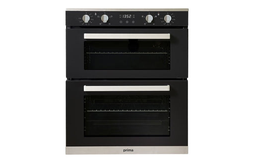 Prima+ PRDO304 B/U Double Electric Oven - Black & St/Steel  | Prima Double Oven