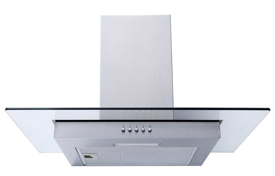 Prima PRFH002 Flat Glass Chimney Hood - St/Steel