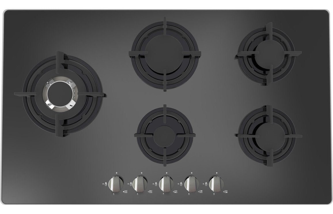 Prima+ PRGH216 90cm Gas on Glass Hob - Black
