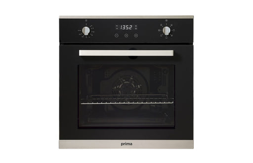 Prima+ PRSO106 B/I Single Electric Fan Oven - Black & St/Steel