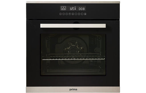 Prima+ PRSO110 B/I Single Pyrolytic Fan Oven - Black