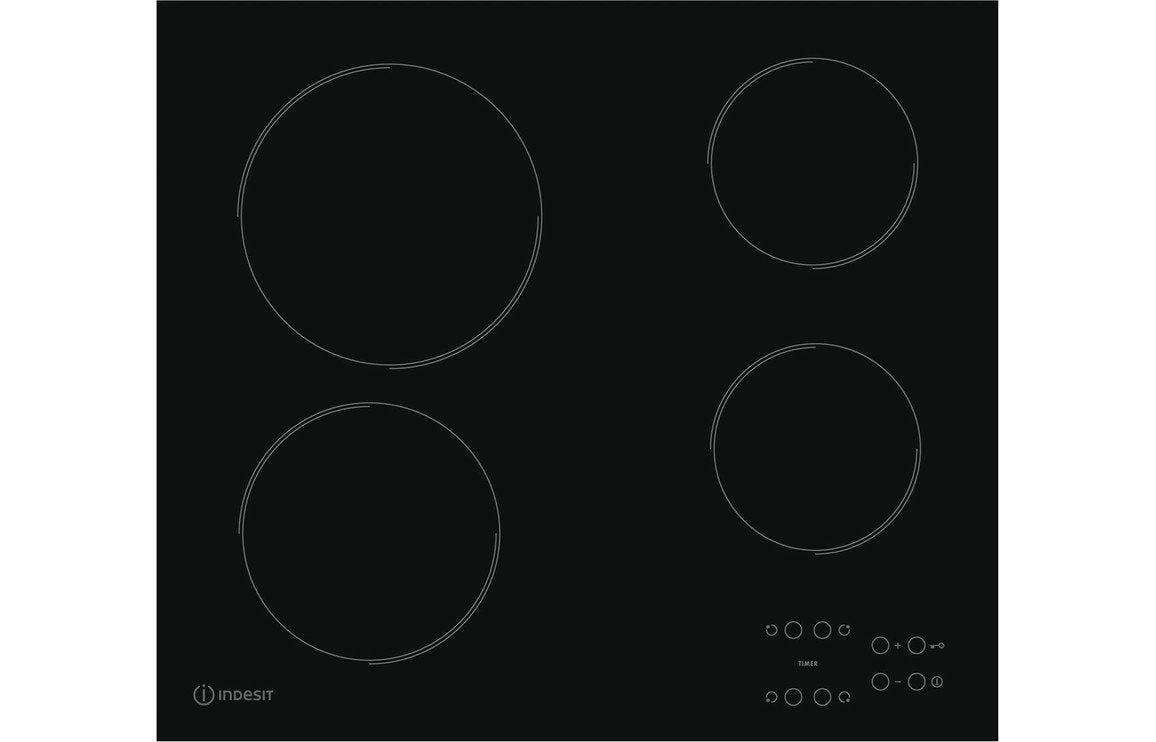 Indesit RI 161 C 60cm Ceramic Hob - Black
