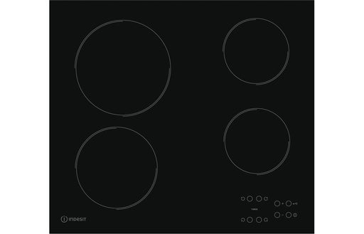 Indesit RI161C 60cm Ceramic Hob - Black