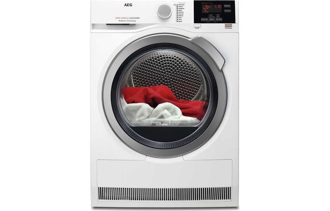 AEG T6DBG822N F/S 8kg Tumble Dryer - White