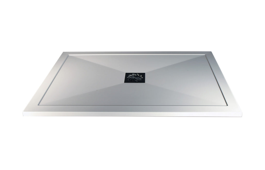 RefleXion 25mm Ultra-Slim 1400mm x 800mm Rectanglular Tray & Waste