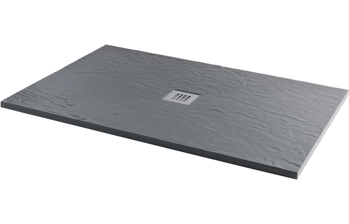 RefleXion 25mm 1200x800mm Slate Effect Ultra-Slim Rectangular Tray & Waste
