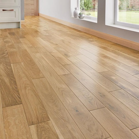 Howdens Pre-finished Solid Oiled Oak Flooring 120mm Width