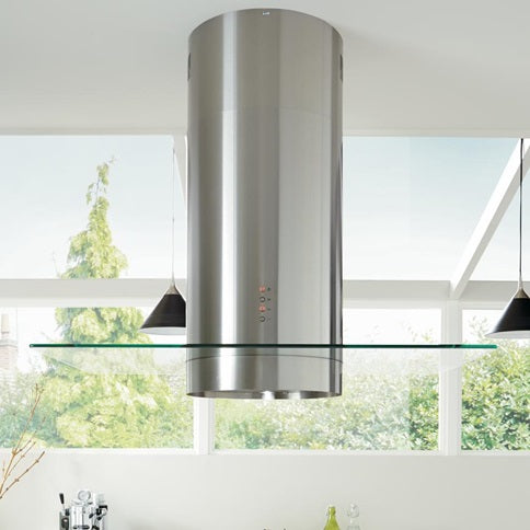 LAM2604 A Lamona Stainless Steel cylinder island extractor with glass 60cm