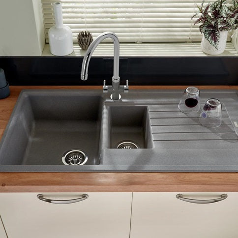 Lamona Grey Granite Composite 1 5 Bowl Sink Snk2152