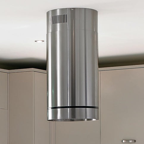 LAM2601 A Lamona S/Steel Cylinder Island Chimney Extractor 35cm
