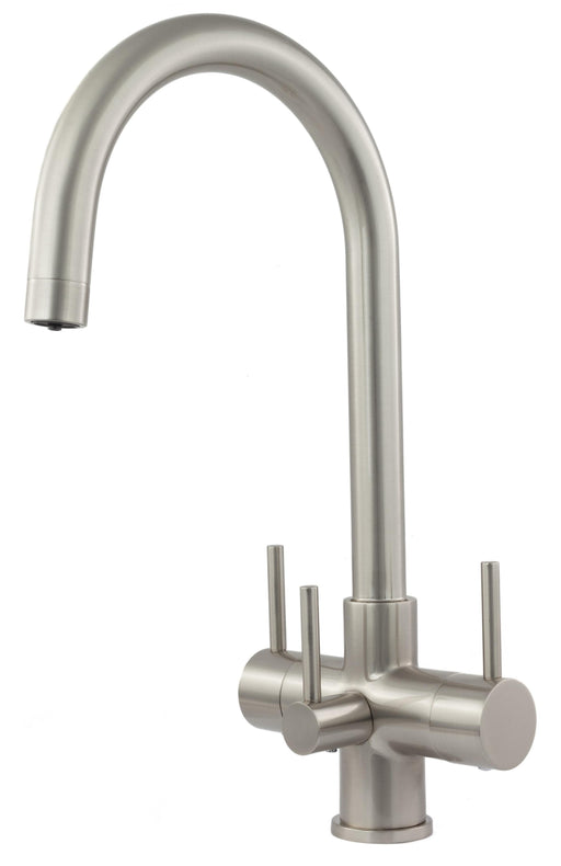 Acquapuro Verona 3 Lever 3 Way Tap Brushed Steel (VER33B)