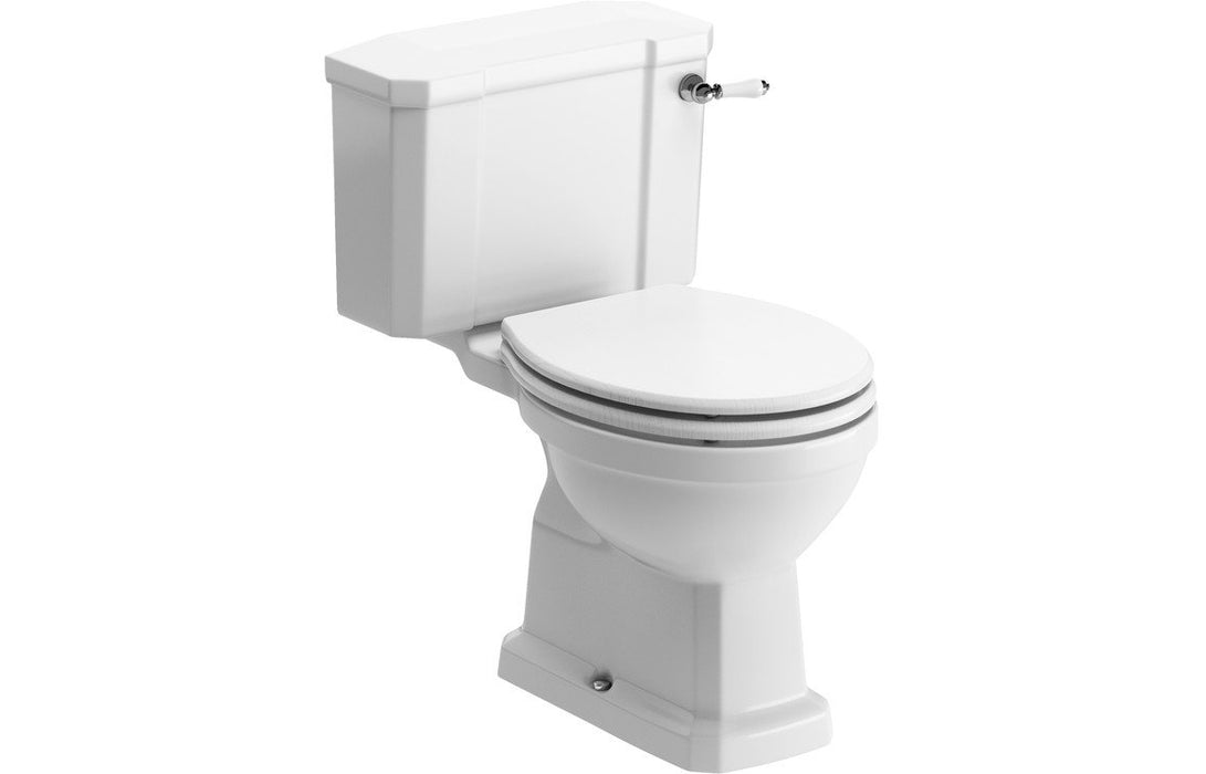 Sherbourne C/C WC & Lucia Satin White Wood Effect Seat