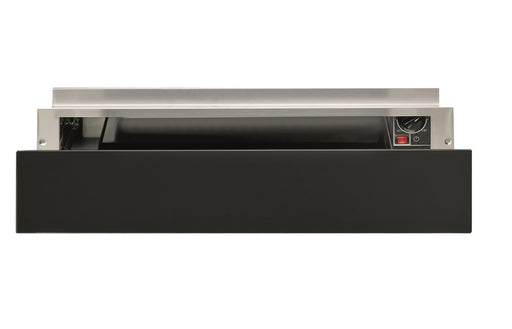 Hotpoint WD 914 NB 14cm Warming Drawer - Dark Grey Glass