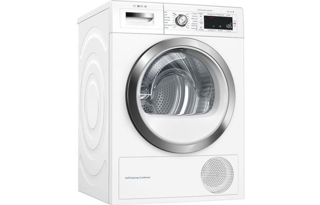 Bosch Serie 8 WTWH7561GB F/S 9kg Tumble Dryer - White