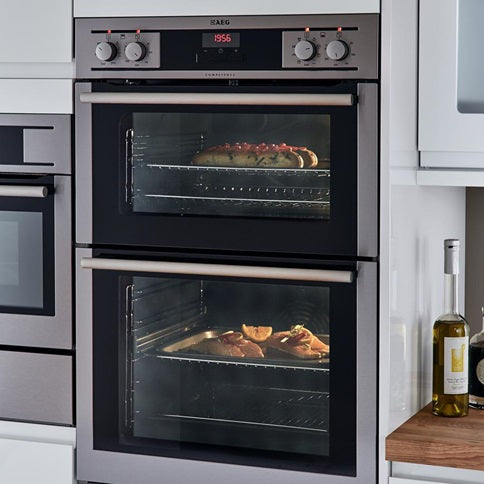 AEG S/Steel Double Tower Multi-F Oven 60cm (HAG4602)