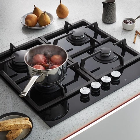 LAM1500 A Lamona Black 4 Burner Gas on Glass Hob 60cm