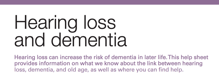 Hearing loss can increase the risk of dementia in later life