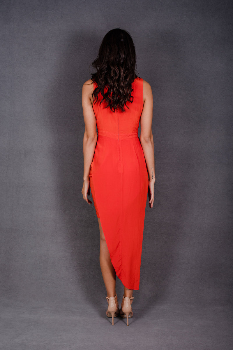 Orange Drape Dress | Shakuhachi