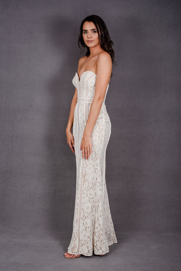 Emma Fishtial Lace Gown | Bariano