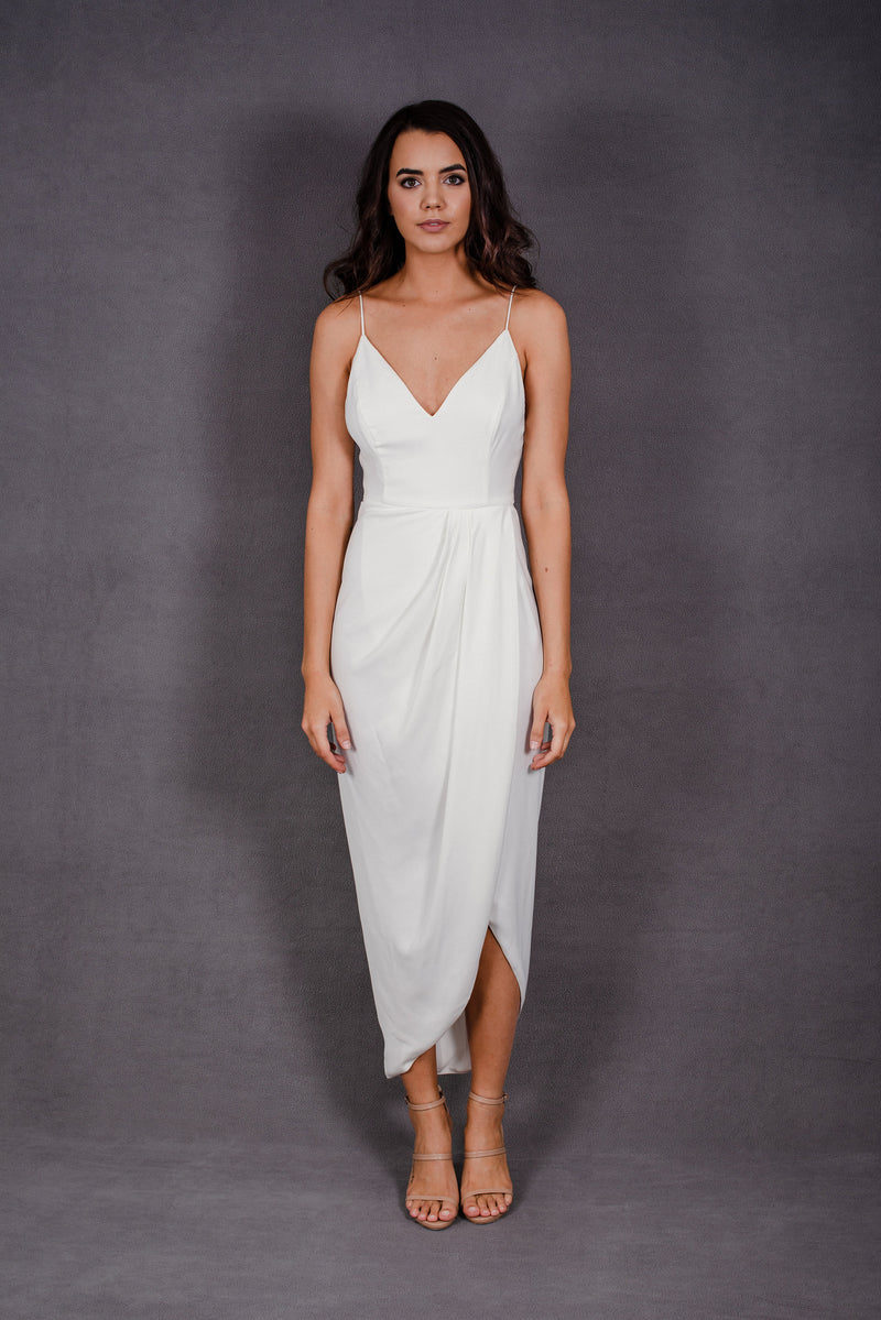 Core Cocktail Dress in Ivory | Shona Joy